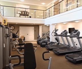 Otterbein Lebanon YMCA Group fitness equipment.