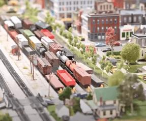 Model train set for Otterbein Lebanon residents.