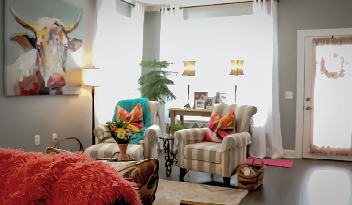 Image of an open floor plan living room at Otterbein Lebanon