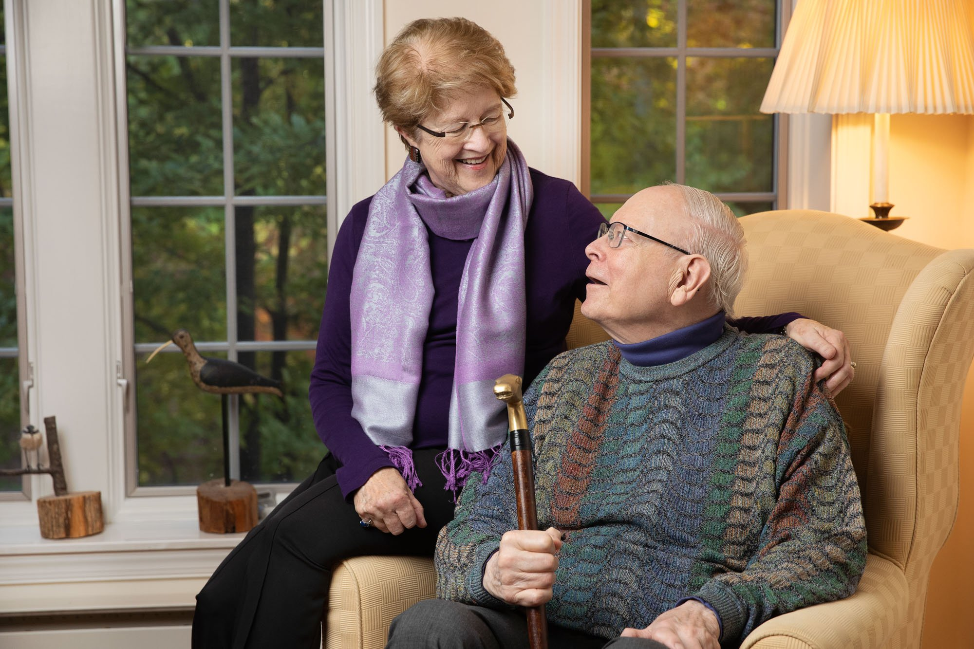 Lovi and Dick enjoy their apartment at The Woodlands at Otterbein Sunset House